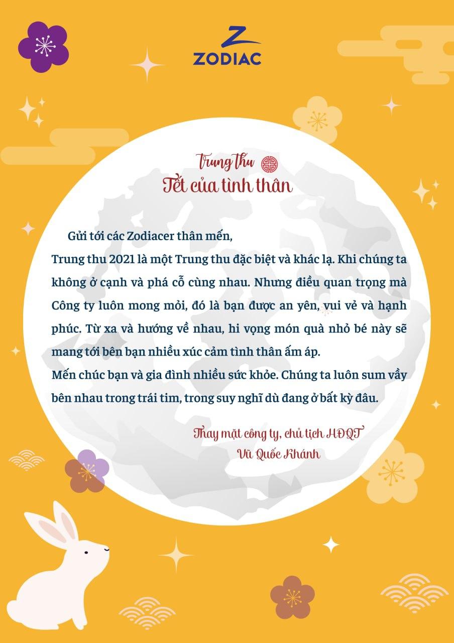 Thư chúc Tết Trung Thu Zodiac